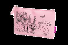 Cailap Muumi kosmetiikkalaukku pinkki pieni 1 kpl